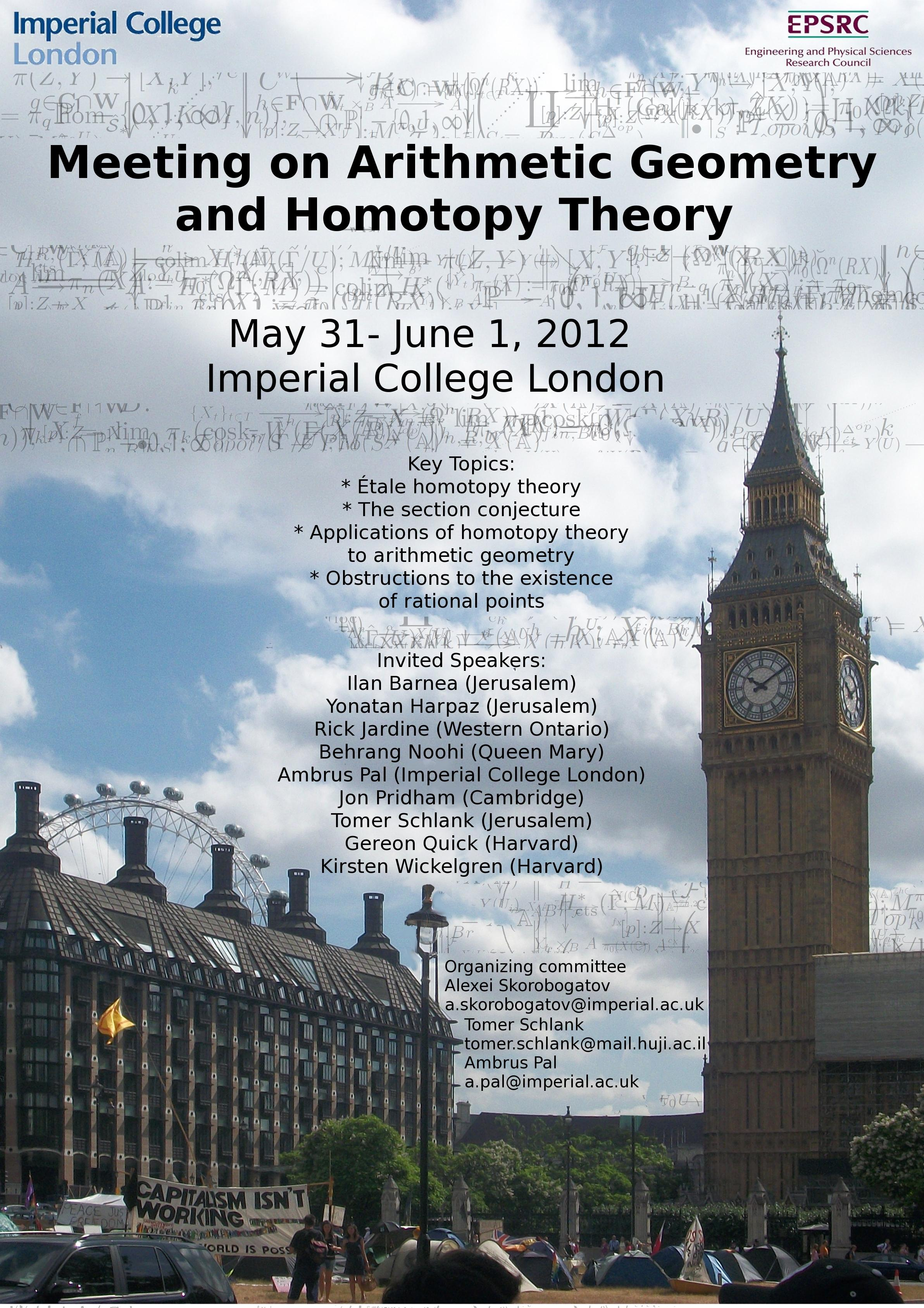 Workshop On Arithmetic Geometry And Homotopy Theory